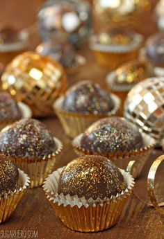 Disco Truffles | Perfect for New Year's Eve parties | Recipe from Sugar Hero