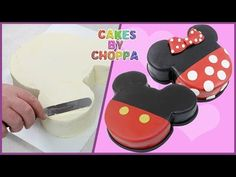 Mickey and Minnie Mouse Cake (How To) - YouTube