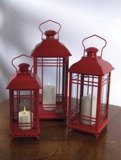 Three piece candle Lantern set