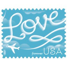 Love Skywriting USPS Forever First Class Postage Stamp U. Celebrate Love New Issue Valentine's Day Sheets (Sheet of 20 Stamps) Pack) Buy Postage Stamps, Postage Stamp Design, Buy Stamps, Love Stamps, Aviation Wedding Theme, Commemorative Stamps, Wedding Postage, Instagram Wedding, Wedding Invitation Cards