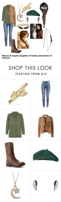 """""""Bianca di angelo daughter of hades and hunter of Artemis"""" by gglloyd ❤ liked on Polyvore featuring Bling Jewelry, H&M, Joseph, Amanda Wakeley, Madden Girl, Adam Marc, Minor Obsessions, Ettika, Bow & Arrow and Angelo"""