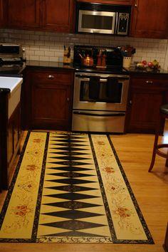Gracewood Design » Historic and Custom Floorcloths » Detail » Kepala, again