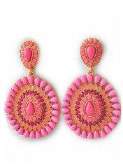 Pink Radial Earrings