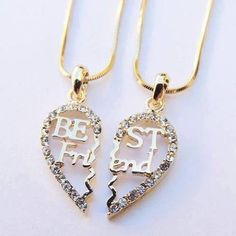 There is 1 tip to buy jewels, bff. Bff Necklaces, Best Friend Necklaces, Best Friend Jewelry, Friend Rings, Bff Gifts, Best Friend Gifts, Gifts For Friends, Fake Friends, Best Friend Outfits