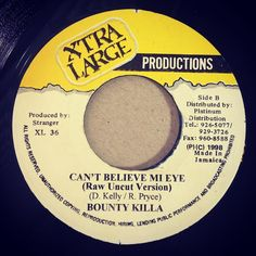 Raw Uncut Versions too! Like Bounty Killer - Can't Believe Mi Eye. I can't believe how many have never heard the raw #version of this before. What's up with that? New fans breathe stuff like this in with the quickness. #buytwocopies #vinyl #record #vinyljunkie #recordcollector #recordaddict #riddim #dancehall #reggae #soca #hiphop #rave #dance #edm #history #musichistory #historyofmusic #radio #podcast #NewChat #newchatmixtapes #45 #45vinyl #turntablism by petebodegavinyl