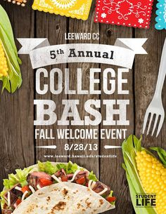 Pearl City, HI A Fall Welcome Bash to kick off the new academic year with a fun and engaging event for all Leeward students. Discover all the programs & clubs that Leeward CC has to offer. Don't miss out on … Click flyer for more >>