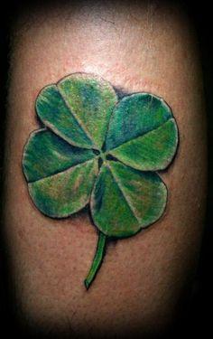 Lovely Green Clover Tattoo