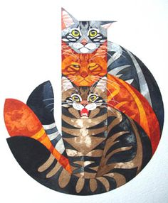 ♥ Three Cats by Stephanie Manchipp from gatos e outros bichos. ♥ (Must love cats) I Love Cats, Crazy Cats, Cool Cats, Art And Illustration, Illustrations, Warrior Cats, Frida Art, Photo Chat, Cat Drawing