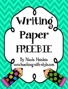 Use this writing paper for students to draw a picture and write a story.  Included is a blank space for the picture, handwriting guide lines for half the page, and a full page of handwriting guides.  So many options for how this can be used!