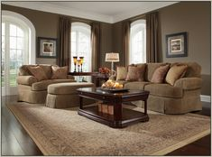 decorating brown furniture on blue and brown living room3 blue and rh pinterest com  best color paint for a small living room