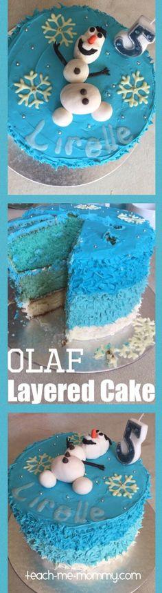 Awesome Layered Olaf Cake!