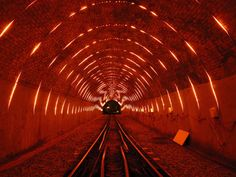 angus muir turns wellington cable car tunnel into a luminous LED landscape