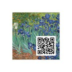 Schwertlilien, Vincent Van Gogh, QR-Code, QR-Kunstwerk