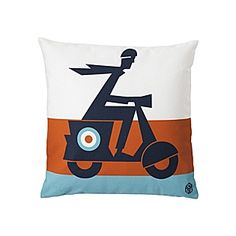 Scooter Pillow Cover #serenaandlily