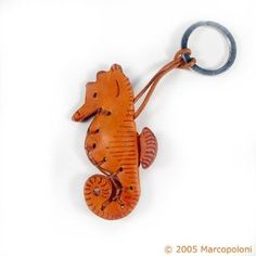 IPPOCAMPO - Sea Horse Italian Leather Key Chain