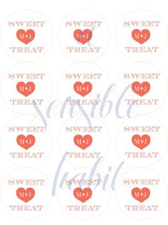 Personalized Treat Bag Wedding Stickers -Just For You - Favors, Buffets, Packaging
