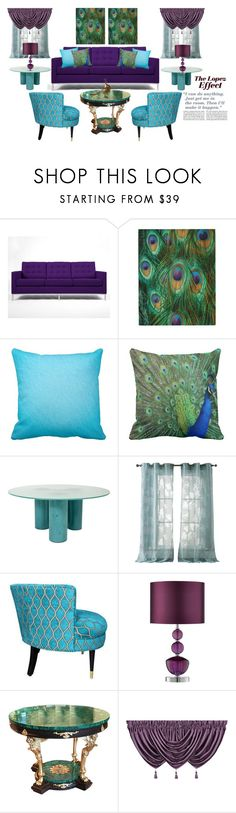 Elegant Peacock Living Room by personaleffects on Polyvore featuring interior, interiors, interior design, home, home decor, interior decorating, Rove Concepts, Queen Street, Kensie and Jennifer Lopez #style #stylish #polyvore #polyvoreset #Elegant #elegant #homedesign #homeset #homedecor #interiordesign #elegant #polyvore #style