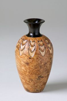 Bill Ooms ~ layered vase ~ wood