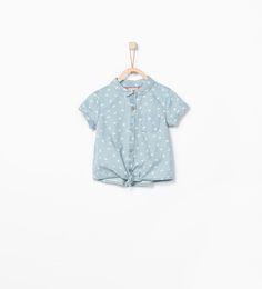 ZARA - KIDS - Hearts denim shirt
