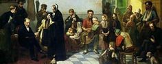Doctor for the Poor, painted by J. Leonard.