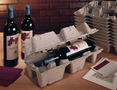 5877929dd5d Single Bottle Pulp Wine Trays from MrBoxOnline. New and improved design. Shipping  BoxesShipping ...