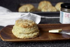 Buttermilk biscuits ~ 2 1/4 cups (280 grams) all-purpose flour  2 teaspoons to 1 1/2 tablespoons (10 to 20 grams) sugar (to taste, see note above)  1 tablespoon (15 grams) baking powder  3/4 teaspoon (5 grams) table salt  3/4 teaspoon baking soda  9 tablespoons (125 grams) chilled unsalted butter, cut into small chunks  3/4 cup (175 ml) buttermilk