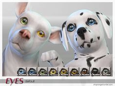 Sims 4 CC's - The Best: PetEyeSet1-Dogs by ShojoAngel
