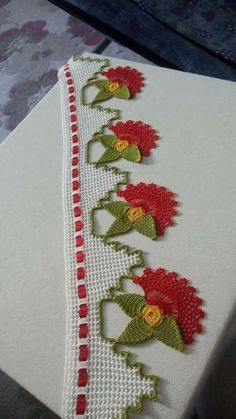 Elements of The Perfect - Havlu Kenarı Modelleri Resimli - Thread Crochet, Love Crochet, Filet Crochet, Irish Crochet, Crochet Stitches, Crochet Borders, Crochet Motif, Crochet Doilies, Crochet Flowers
