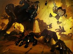 Bendy and the ink machine fanart by cloneG