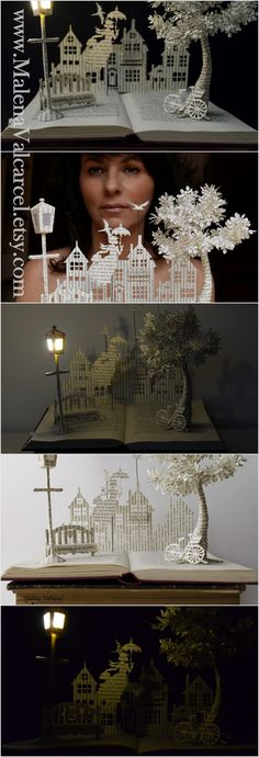 Book Arts - Mary Poppins Book Sculpture