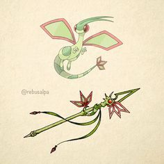 No. 330 - Flygon. #pokemon #flygon #dragonscale #spear #pokeapon