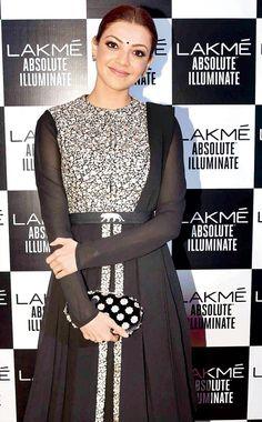 Kajal Aggarwal at the Lakme Fashion Week Winter Festive 2016. #Bollywood…