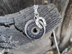 Shotgun Shell Necklace With Horseshoe and by madewlovedesigns