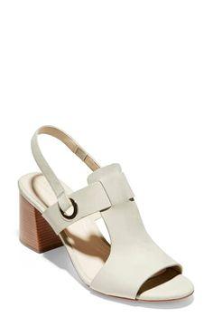 Cole Haan Grand Ambition Adele Slingback Sandal In Pumice Stone Leather Pumice Stone, Slingback Sandal, Cole Haan, Designer Shoes, Nordstrom, Sandals, Ambition, Adele, Leather