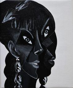 Nicholas Chistiakov - Head of a Queen, 2014, acrylic on canvas Postmodern Art, Black Queen, Cubism, Face Art, Airbrush, Portraits, Deconstructivism, Work Inspiration, Postmodernism