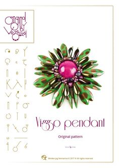 pendant tutorial / pattern Viggo pendant – PDF instruction for personal use only by beadsbyvezsuzsi on Etsy