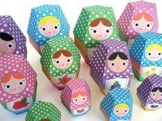 Rose Matryoshka Nesting Doll Printable Paper Craft PDF. $3 on Etsy.