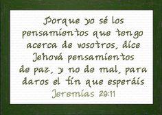 Pensamientos Jeremias 29:11 - Cross Stitch