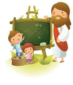 Jesus Bible Cartoon, Jesus Cartoon, Bible Stories For Kids, Bible Study For Kids, Jesus Pictures, Pictures To Draw, Bible Activities, Preschool Activities, Catholic Religious Education