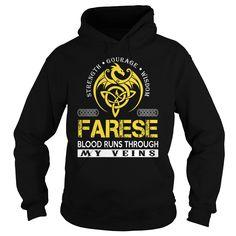 FARESE Blood Runs Through My Veins (Dragon) - Last Name, Surname T-Shirt