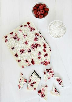 raspberry coconut yogurt bark