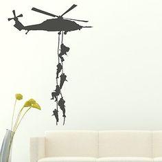 Marines - Military Transfers / Helicopter Sticker Bedroom Art / Boys Army ne30   eBay