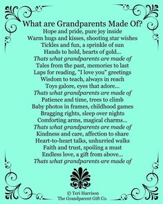 New Grandma and Grandpas- such an impact your will have!                                                                                                                                                      More