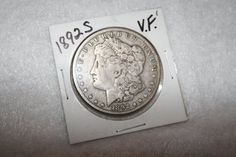 1892S Very Fine Morgan Silver Dollar by pasttimejewelry