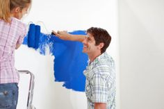 """HowStuffWorks """"Guide to Painting an Accent Wall""""  Planning to repaint the living/main room of a split level ranch. Thinking  butter cream or lemon icing type color with a lavender accent wall, country blue for the trim which is not near the accent.... or I could be boring and do white trim.... maybe"""