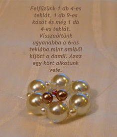 Tiszi gyöngyékszerei: Rozetta minta Pearl Bracelets, Pearl Earrings, Beaded Jewelry, Pendants, Pearls, Beading, Pattern, Pearl Studs, Beads