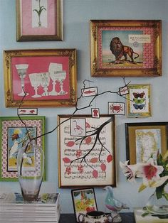decorating one's wall with #collages