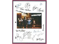 Entourage Pilot Episode TV Script Autographed: Kevin Dillon, Jeremy Piven, Adrian Grenier, Kevin Connolly, Debi Mazar, Jerry Ferrara