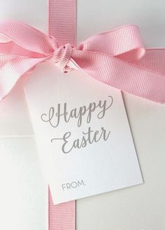 pretty pink tulips: Easter Treats, very pretty to add in the basket, I would have liked the writing to be green but this is nice too Happy Easter Everyone, Easter Parade, Easter Colors, Easter Celebration, Pink Tulips, Easter Treats, Favorite Holiday, Easter Eggs, Easter Food