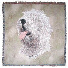 Old English Sheepdog Throw Old English Sheepdog, Cushions, Tapestry, Dogs, Gifts, Animals, Throw Pillows, Hanging Tapestry, Toss Pillows